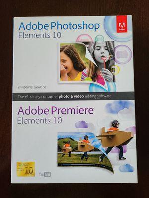 New Adobe Photoshop & Premier Elements 10 + Lightroom Trial for Sale in Lake Stevens, WA