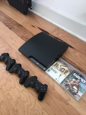 PS3 plus 3 controllers and 2 games for Sale in Austin, TX