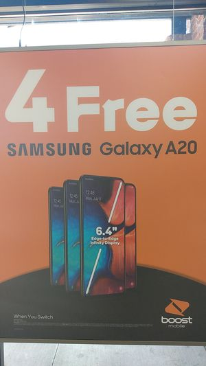 """Get a free Samsung Galaxy A20 when you switch to Boost Mobile! """"Buy"""" one for free with port in, get one for free! for Sale in Spokane, WA"""