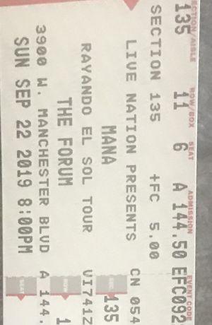 Mana concert tickets for Sale in La Mirada, CA