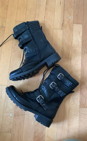 Black Target Boots with Buckles Work Military Combat Lace-up Size 10 for Sale in Streamwood, IL