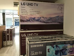 "75"" Samsung smart 4K UHD Qled LG Vizio Tcl $280 for Sale in Whittier, CA"