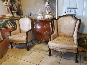 Antique pair of chairs Luis XV style for Sale in Tampa, FL