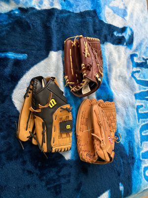 Baseball/softball gloves for Sale in Austin, TX