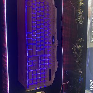 Pink gaming keyboard for Sale in Appleton, WI