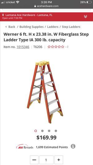 "Werner 6ft 300lb ladder ""WOW"" only $50 for Sale in Boynton Beach, FL"