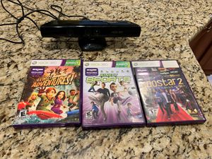 Xbox 360 Kinect with games for Sale in Chantilly, VA