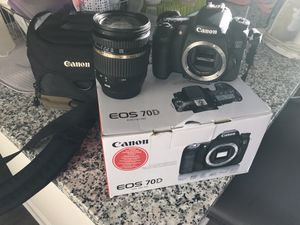 Canon EOS 70D with lenses for Sale in Upper Marlboro, MD