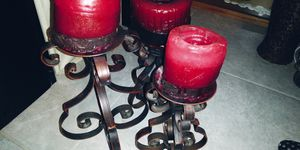 3 metal candle holder set for Sale in Mesa, AZ