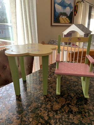 """Table and rocking chair for an 18"""" doll for Sale in Jessup, MD"""