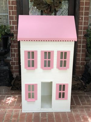 LARGE DOLLHOUSE Bookcase Storage pink white WOOD for Sale in Flower Mound, TX