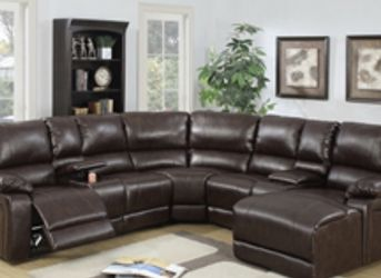 Brown Motion Sectional With Chaise for Sale in Kissimmee,  FL