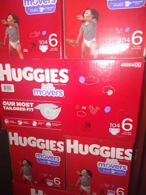 HUGGIES LITTLE MOVERS SIZE 6 $33 CADA 1 CAJA PRECIO FIRME RRECOJER EN SANTA ANA CA NO ADOMISILIO 👁️👀 for Sale in Santa Ana, CA