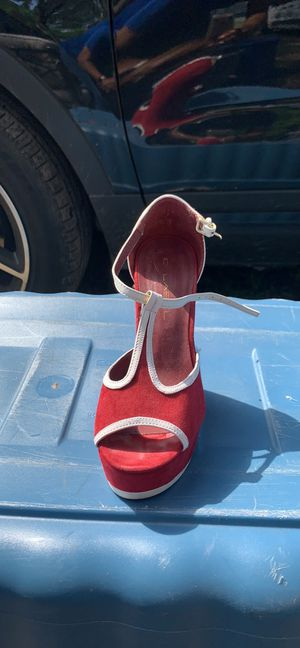 Red wedge heel for Sale in Fayetteville, NC