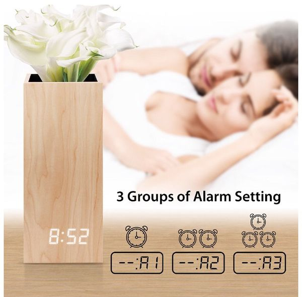 Wood Alarm Clock - Wood