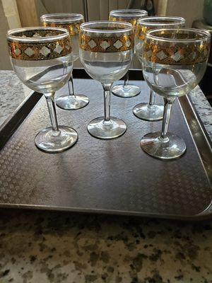 Vintage Culver Valencia stem glasses for Sale in Livingston, CA