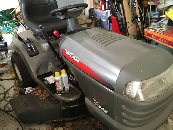 Craftsman lawn tractor. Has hydrostatic drive. It is 19 hp but engine is seized up. Transmission is good and so is mower. Put in a used engine for $1