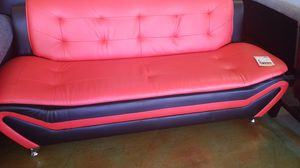 Red and BLACK Contemporary Sofa for Sale in Phoenix, AZ