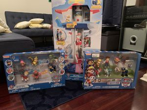Paw Patrol - My Size Lookout Tower + Action Pack Figures for Sale in Fairburn, GA