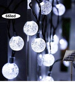 Solar String Lights Globe 39 Feet 66LED Crystal Balls Waterproof LED Fairy Lights 8 Modes Outdoor Starry Lights Solar Powered String Light for Garden for Sale in Chino,  CA