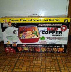 Red Copper Square 10 Inch Pan (5 pc. Set) for Sale in Denver,  CO