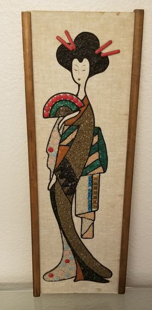 Mid Century Asian Gravel and Beads Mosaic for Sale in Henderson, NV