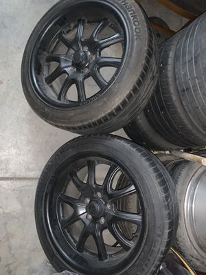 2 Shelby rims with tires for Sale in Squaw Valley, CA