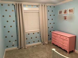 Beautiful!!! Pink and Gold Baby Girl dresser for Sale in Kent, WA