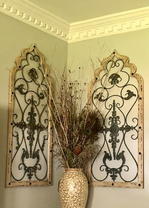 Wood/iron wall arches - wall decor for Sale in Alexandria, VA
