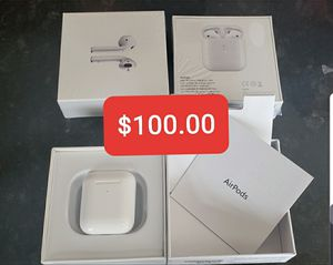 Airpods 2 earbuds W/ Wireless Charger Case for Sale in Deltona, FL