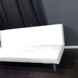 White Leather Futon Sofa Bed Couch for Sale in South Gate, CA