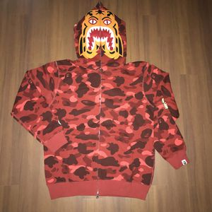 Bape red camo tiger hoodie size L XL 2XL for Sale in San Francisco, CA