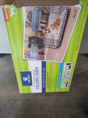 Medium folding metal dog crate for Sale in Lincoln, CA