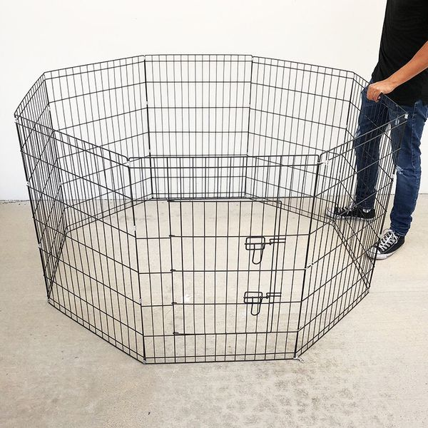 "(NEW) $40 Foldable 36"" Tall x 24"" Wide x 8-Panel Pet Playpen Dog Crate Metal Fence Exercise Cage"