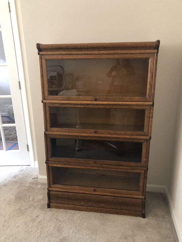 Macey Lawyer's 4 Section Oak and Glass Bookcase