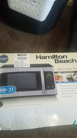Microwave for sale exalent condition only used times for Sale in Sheridan, CO