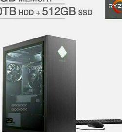 HP Omen 25L Gaming Desktop PC Ryzen 7 3700X 16GB RAM 512GB SSD+1TB HD GT710 ($1100) for Sale in Vancouver,  WA