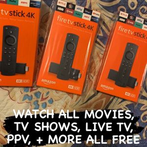 Amazon FireTV Firestick 4k ~ FULLY LOADED for Sale in The Bronx, NY