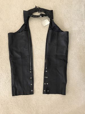 Leather Sheen black leather chaps - womens M - NWT for Sale in Waukesha, WI