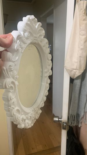 Small white plastic wall mirror for Sale in Irwindale, CA