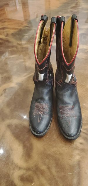 Boys boots Justin size 3.5 for Sale in Yelm, WA