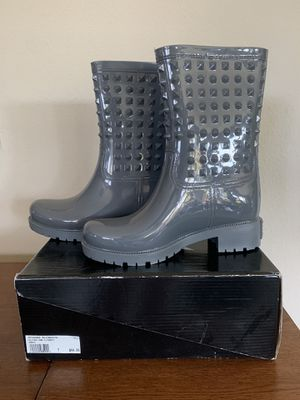 Gray studded rain boots for Sale in Ontario, CA