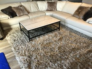 For Sale - Coffee & End Table - Macy's Stratus Collection marble, glass & rubbed-bronze frame finish. Like new, purchased in 2017...Beautiful finish for Sale in Tampa, FL