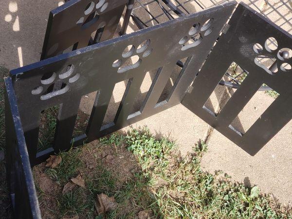 Wrought Iron dog bed 2 paw print dog gates