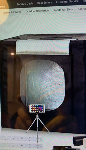 Photo tent cube 48x48 w led lights and tripod included good for starter plants 420 or photograph for Sale in Ontario, CA