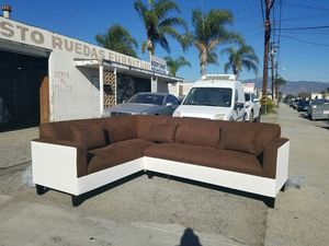 NEW 7X9FT CHOCOLATE MICROFIBER COMBO SECTIONAL COUCHES for Sale in South El Monte, CA
