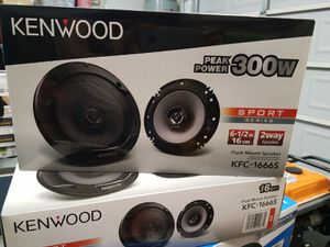 Brand New!! Kenwood 6 1/2 speakers. 300 watts!! Only $35 a pair. Great Deal for Sale in Phoenix, AZ