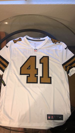 Men's New Orleans Saints Alvin Kamara Nike White Color Rush Legend Player Jersey for Sale in Chico, CA