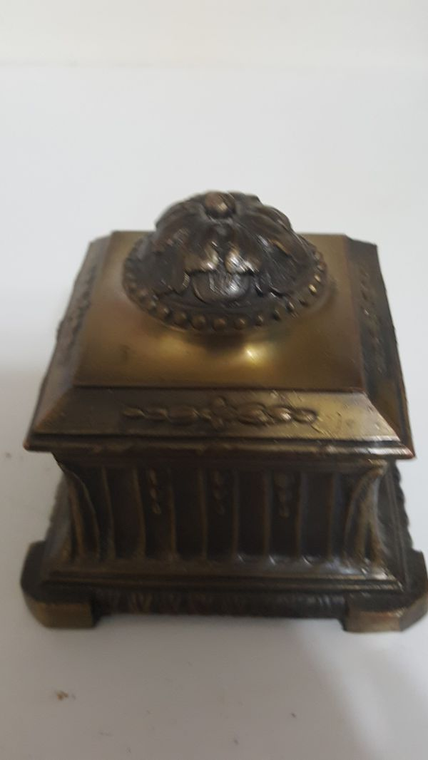Antique Brass Ink Well