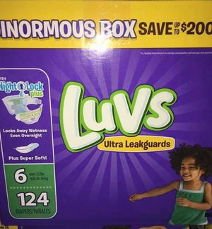 Luvs diapers size 6 for Sale in Downey, CA